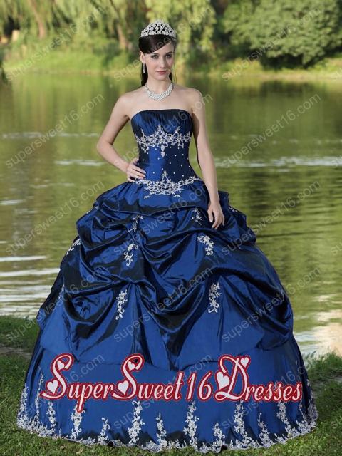 Dark Blue Sweet 16 Dresses