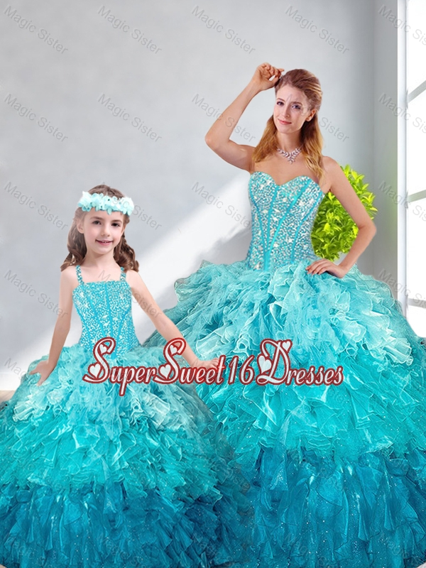 Beautiful Ball Gown Sweetheart Macthing Sister Dresses in Multi Color