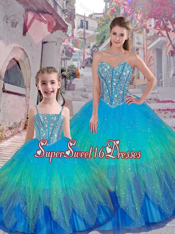 Classical Beaded Ball Gown Macthing Sister Dresses with Sweetheart
