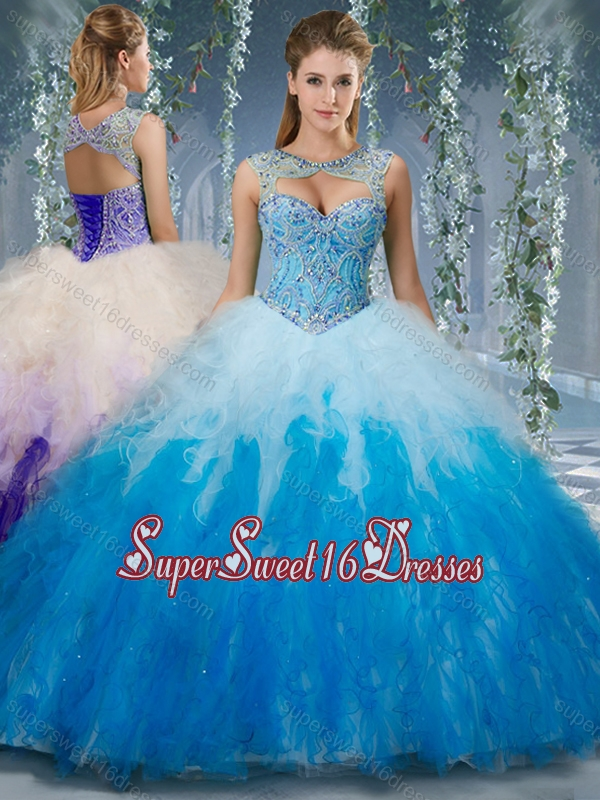 Exclusive Beaded and Ruffled Organza 15th Birthday Party Dresses in ...