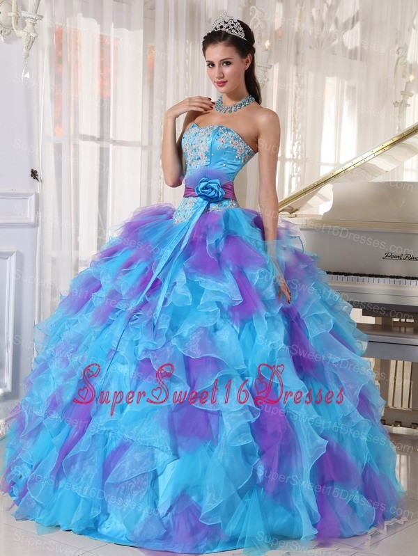 Cute long blue sweet 16 dresses