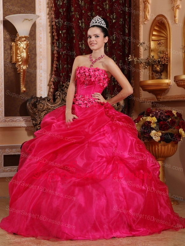 Hot Pink Sweet Sixteen Dresses,Hot Pink Dress for Sweet 16 Party