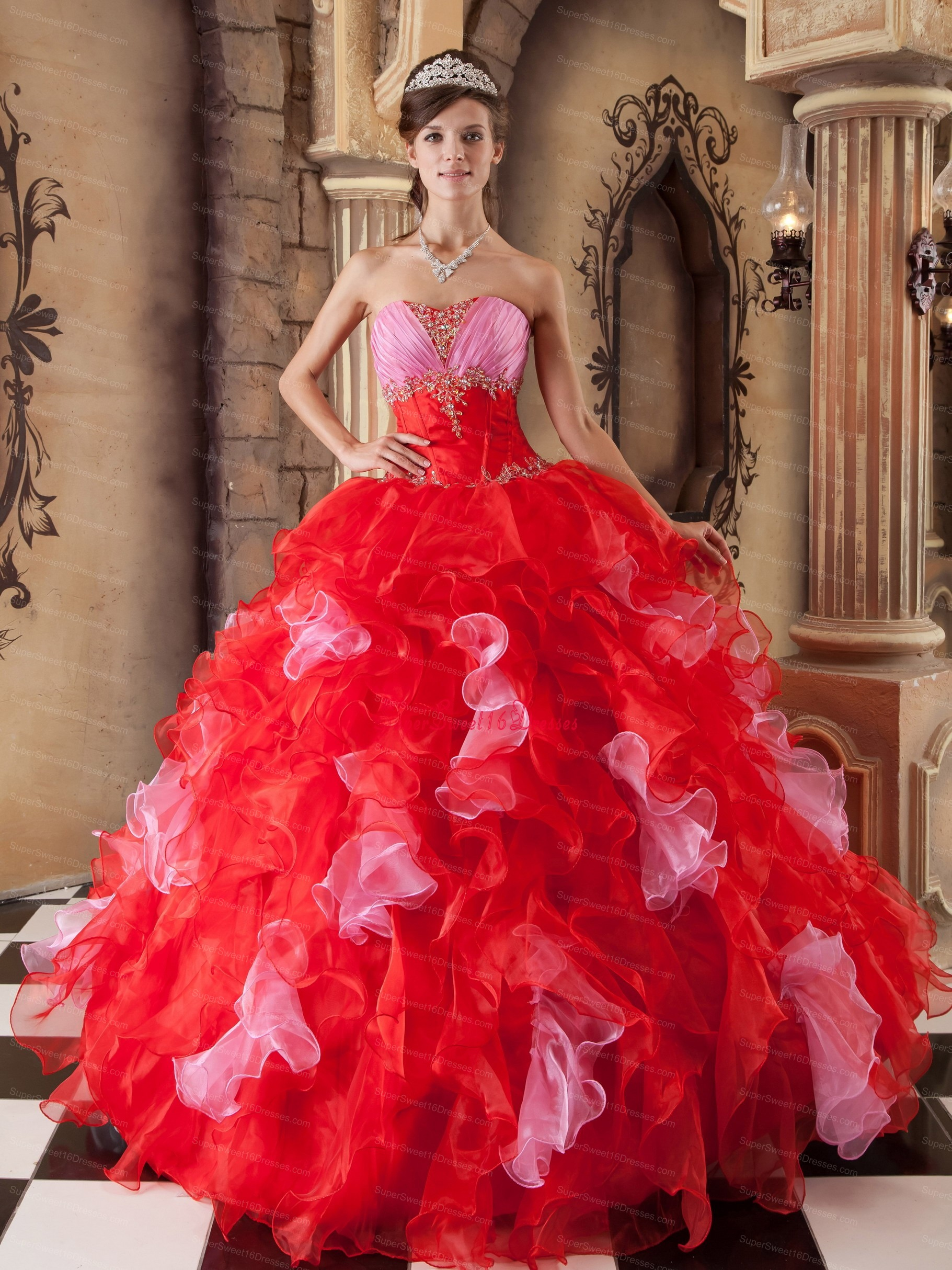 Red Sweet 16 Dresses