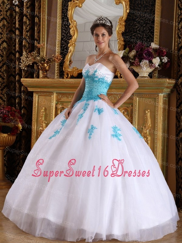 Blue And White Sweet Sixteen Dresses,Blue And White Dress for ...
