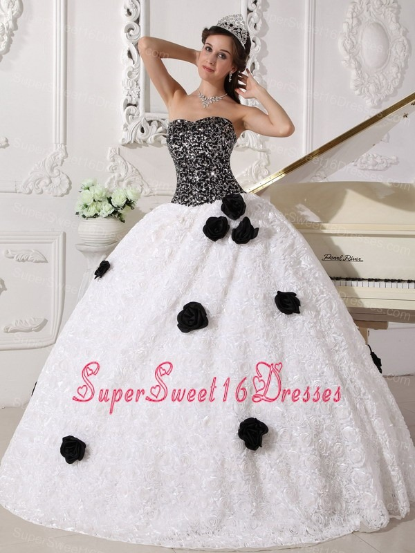 White And Black Sweet Sixteen Dresses,White And Black Dress for ...