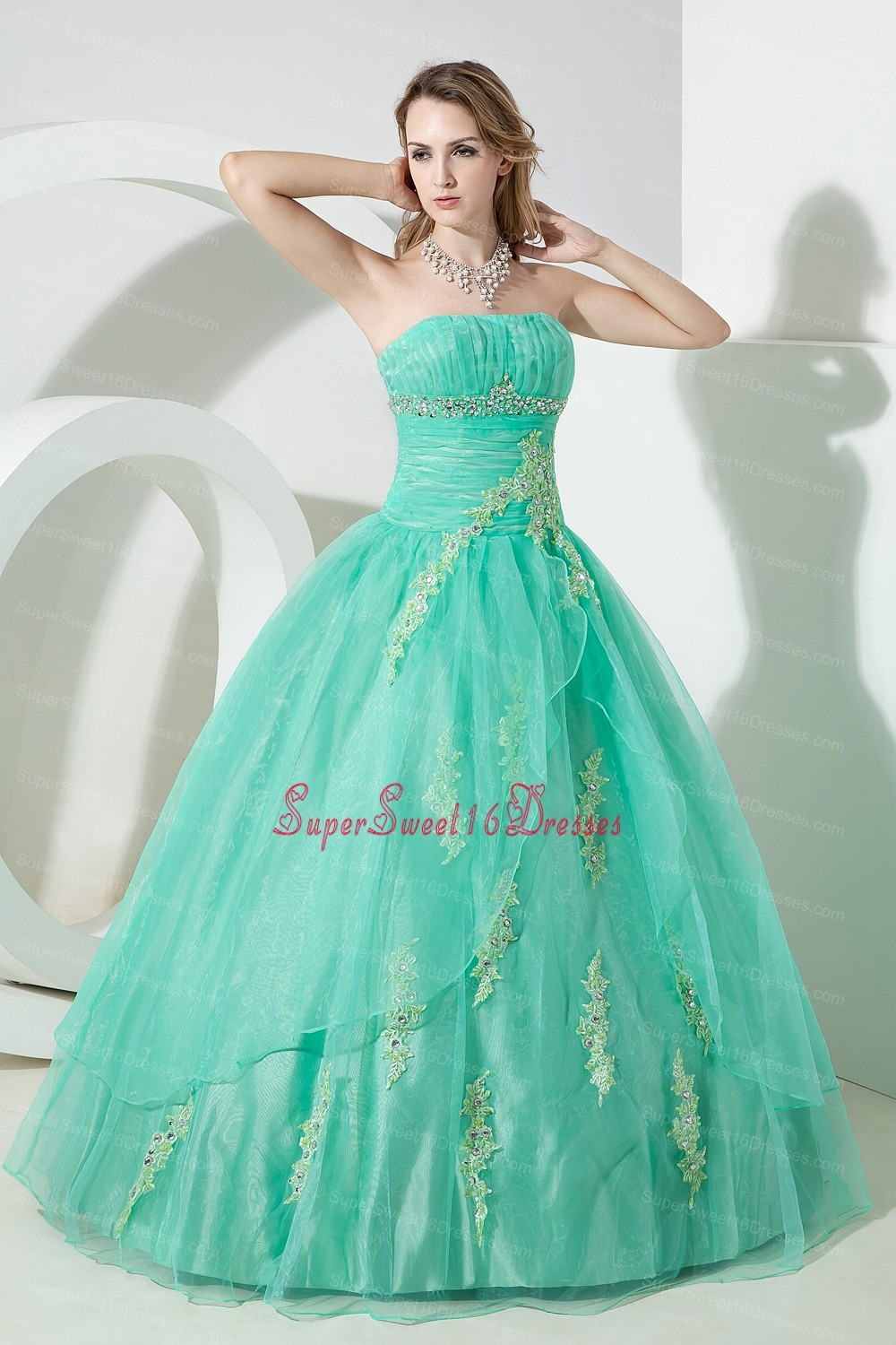 Turquoise Sweet Sixteen Dresses,Turquoise Dress for Sweet 16 Party
