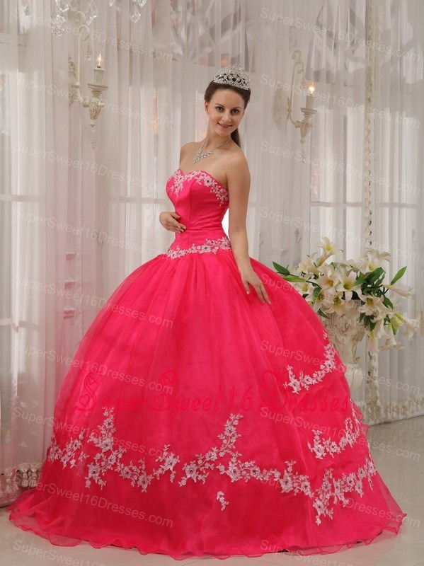 Coral Red Sweet Sixteen Dresses,Coral Red Dress for Sweet 16 Party