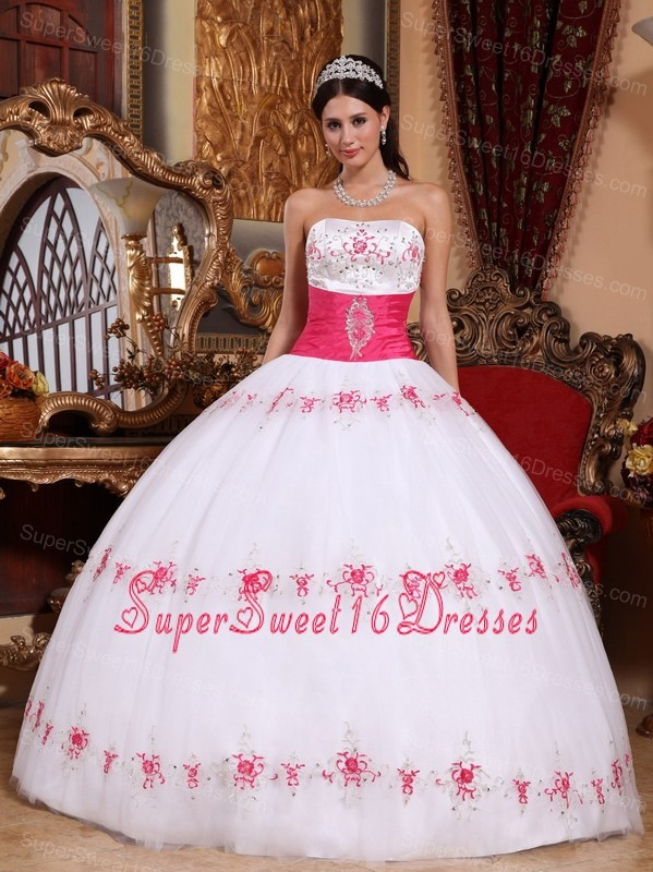 Sweet 16 Dresses White And Pink - Missy Dress