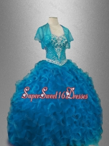 Classical Organza Sweet 16 Dresses with Beading and Ruffles