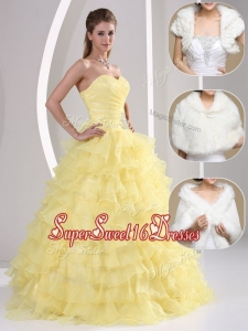 2016 Popular Beading and Appliques Sweetheart Quinceanera Dresses