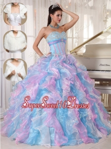 New Style Ball Gown Sweetheart Floor Length Quinceanera Dresses