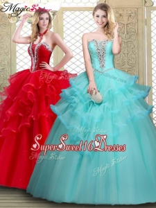 Perfect Sweetheart Sweet Sixteen Dresses with Beading and Ruffles