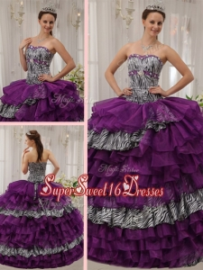 Brand New Sweetheart Beading Quinceanera Dresses in Purple