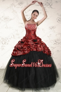 2015 Exclusive Ball Gown Leopard Quinceanera Dresses in Multi-color