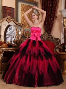 Wonderful Sweet 16 Dress Strapless Floor-length Tulle Beading Ball Gown