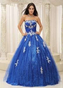 Long Blue Sweet 16 Dresses