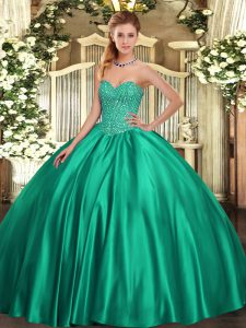 47b5061810 Super Turquoise 15th Birthday Dress Military Ball and Sweet 16 and  Quinceanera with Beading Sweetheart Sleeveless Lace Up